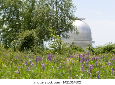 Astrophysical Observatory in mountains.  Shamakhi, Azerbaijan.  Beautiful scenery