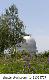 Astrophysical Observatory in mountains. Shamakhi, Azerbaijan. Beautiful nature