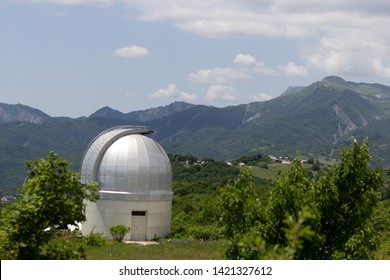 Astrophysical Observatory in mountains.  Shamakhi, Azerbaijan.  Beautiful view
