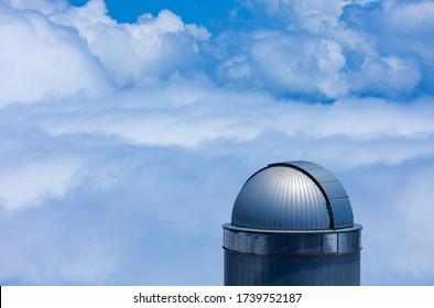 Astrophysics Observatory of Roque de los Muchachos in El Paso and Garafia municipalities of La Palma island in Canary Islands, Spain, Europe, Unesco Biosphere Reserve
