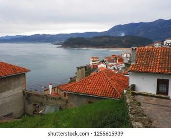 Asturias, Spain - APRIL 2, 2010: Lastres, beautiful town in asturias