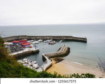 Asturias, Spain - APRIL 2, 2010: Fishing port in Asturias