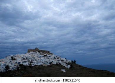 Astypalaia island and Castle Greece. Astypalaia is an archipelago of twelve major islands in the southeastern Aegean Sea.