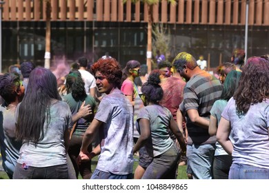 ASU Arizona State University Holi festival Festival of colors Tempe Arizona 3/17/18