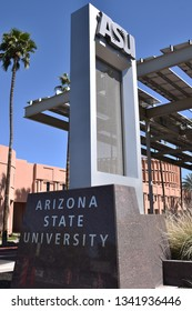 ASU Arizona State University sign Tempe Arizona 3/16/19
