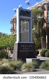 ASU sign at Arizona State University Tempe Arizona 3/16/19