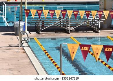 ASU swimming pool at Arizona State University Tempe Arizona 3/16/19