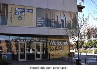 ASU welcome center for incoming students at Arizona State University Tempe Arizona 3/16/19
