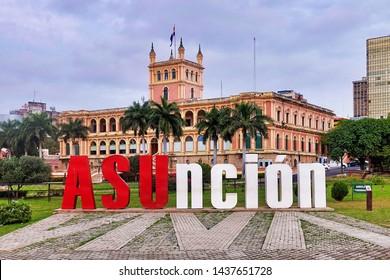 Asuncion, Paraguay - 2019.06.17. - The Presidents Palace