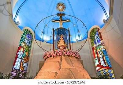 Asuncion - Paraguay, April 11, 2018 Virgin of Caacupé in the basilica