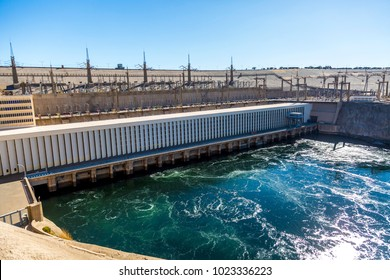 Aswan dam - Aswan hydroelectric power station and Nasser Lake, Egypt