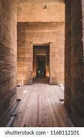 ASWAN, EGYPT - JULY 26, 2018: Inside the temple of Philae