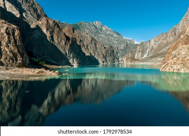 Atabad lake is a beautiful and largest lake in hunza , gilgit baltistan  landscape photography