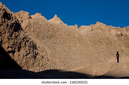 Atacama Desert. Chile. 03.27.08. Rock formation in Cari Canyon in the Atacama Desert near San Pedro de Atacama, northern Chile, South America.