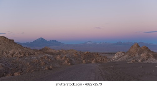 The Atacama desert at sunset, Chile.