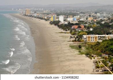 Atacames beach in Esmeraldas