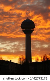 Atakule in Sunset, Ankara, Turkey