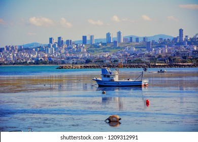 ATAKUM, SAMSUN, TURKEY 27 SEPTEMBER 2018,  beach, coast and seascape