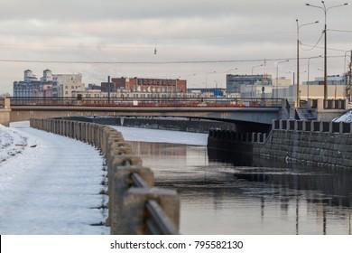 Atamanskiy bridge, Sankt Peterburg, Russia