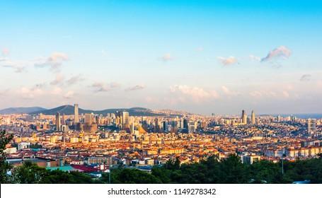 Atasehir district in Istanbul, Turkey. Atasehir is a modern district of Istanbul. Atasehir is in the Anatolian part of Istanbul.