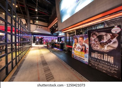 Atasehir, Istanbul, Turkey - November 24, 2018; The ticket point for cinemaximum cinema in a shopping center in Istanbul.