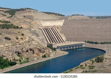 Ataturk Dam on the Euphrates River, Turkey