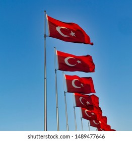 Ataturk founded the secular, democratic Republic of Turkey flag.