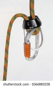 ATC belay device with rope