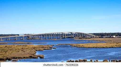 Atchafalaya Basin Bridge, also called the Louisiana Airborne Memorial Bridge, stretches over the water of Atchafalaya Basin and runs from Lafayette to Baton Rouge, Louisiana.