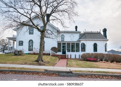 Atchison, Kansas, USA on January 28, 2017. The Gorthic Revival home and birthplace of Amelia Earhart in Atchison Kansas.