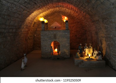 Ateshgah Fire Temple. Temple of Fire in Surakhani near Baku, Azerbaijan. Based on Persian and Indian inscriptions, temple was used as a Hindu and Zoroastrian place of worship.