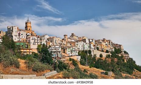 Atessa, Chieti, Abruzzo, Italy: landscape of the italian old town on the hill