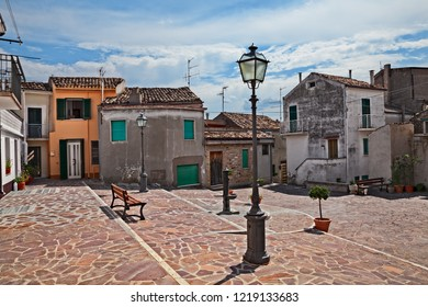 Atessa, Chieti, Abruzzo, Italy: picturesque little square in the old town of the ancient Italian village
