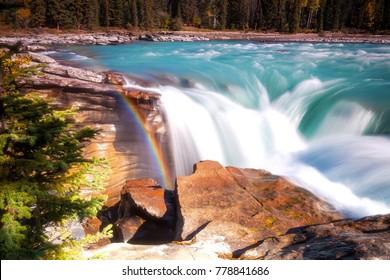 Athabasca Falls in Banff