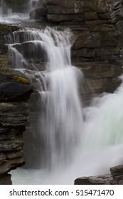 Athabasca Falls Waterfall