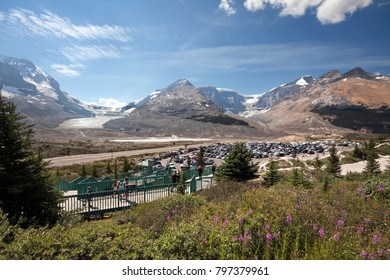 Athabasca Glacier and Columbia Ice Fields, Banff National Park, Alberta, Canada Located about an 1-1/2 hour drive north of Lake Louise. These Pictures were taken in the year 2017.