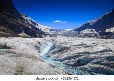 Athabasca Glacier in the Columbia Icefields, British Columbia, Canada