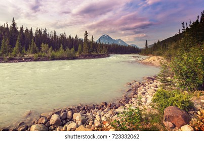 Athabasca River in Jasper National Park