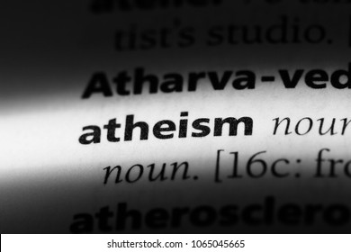 atheism word in a dictionary. atheism concept.