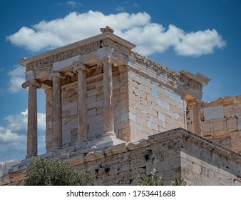 Athena Nike (victorious) ancient temple on Acropolis, Athens Greece