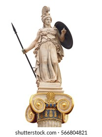 Athena statue, the ancient goddess of philosophy and wisdom