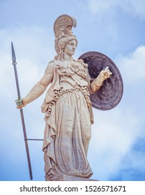 Athena statue, the ancient Greek goddess of knowledge and wisdom