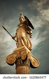 Athena statue in Athens, Greece.