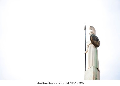 Athena statue at Athens Greece, minerva statue