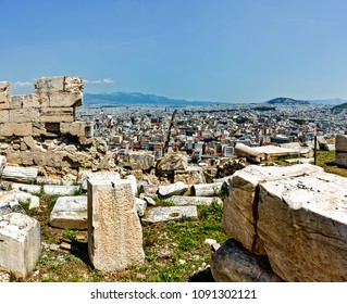 Athenes on a sunny day