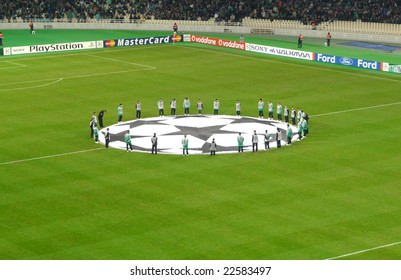 ATHENS -  9 DECEMBER, 2008: Champions league game between Panathinaikos-Greece and Anorthosis - Cyprus at Olympic stadium in Athens Greece.