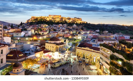 Athens - Acropolis at night, Greece