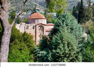 Athens. Ancient orthodox Monastery