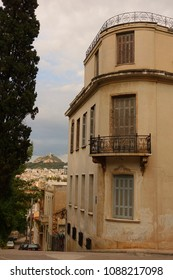 Athens, Attica / Greece - 10 May 2018: Neoclassic house in picturesque streets of Plaka district