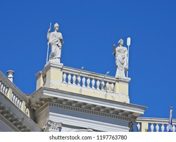 Athens, Attica / Greece - October 5 2018: Photo of famous museum of Cycladic art a true neoclassical masterpiece in the center of Athens